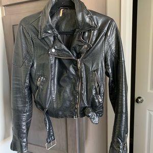 Free People faux leather jacket